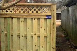 custom wood fencing near me