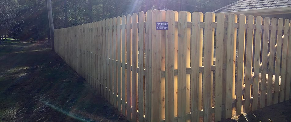 shadow box privacy fence