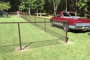 perimeter chain link fence