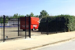 steel fence with gate