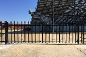 steel commercial fence
