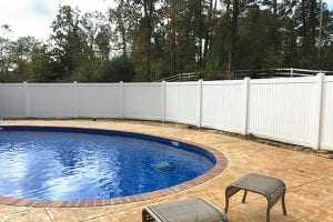 vinyl fence for pool